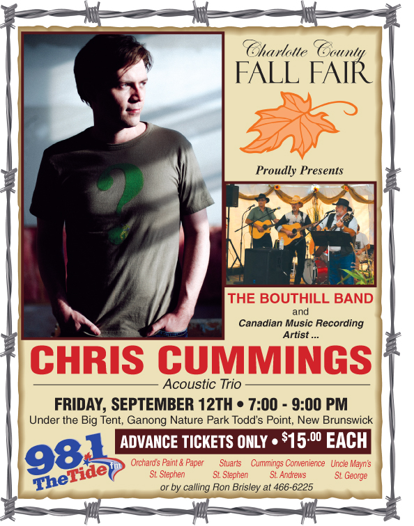 Chris Cummings performs at Charlotte County Fall Fair, Friday, September 12!