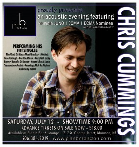 Chris Cummings plays Plan B - Saturday, July 12 @ 9:00 PM